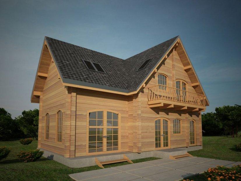 Houtskeletbouw woning luminita - Houten huis ...